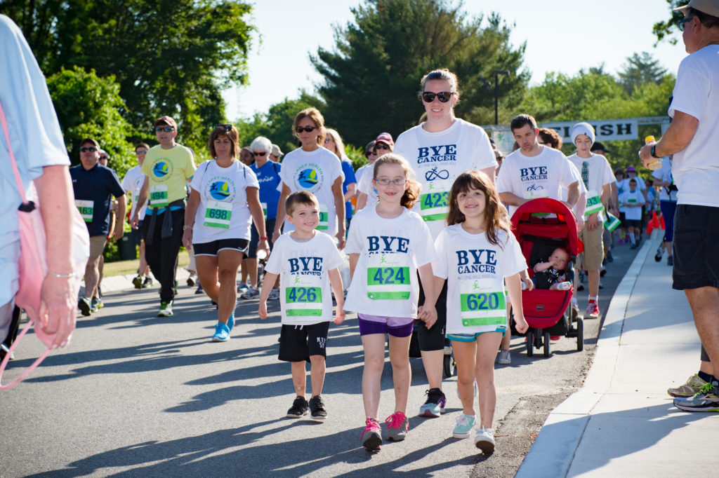 Family participating in the Annual 5K