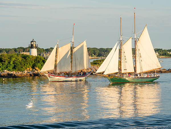 sailboats in Gloucester