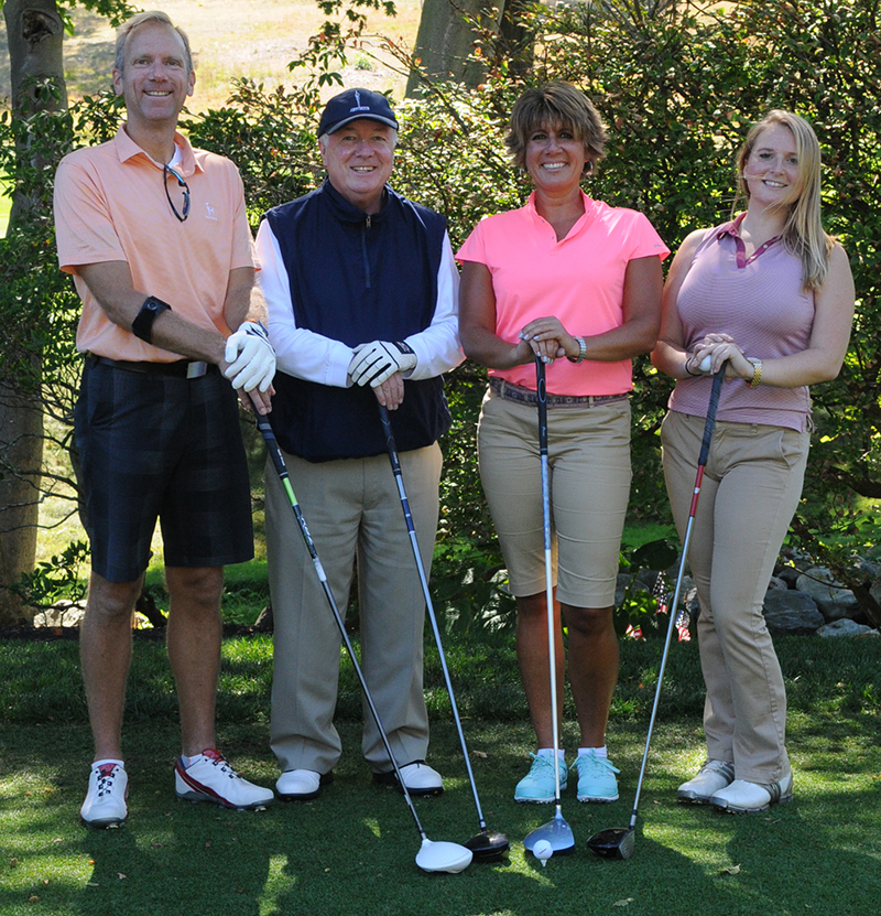 Armstrong Ambulance golf foursome