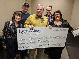 Check from Lyons-Wagh Autogroup